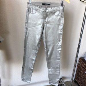 NEW JBRAND super skinny metallic jean